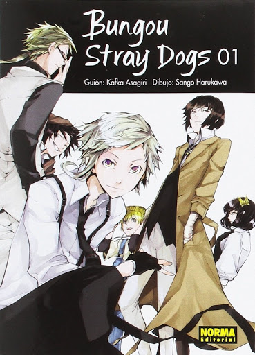 Bungou stray dogs Book Cover